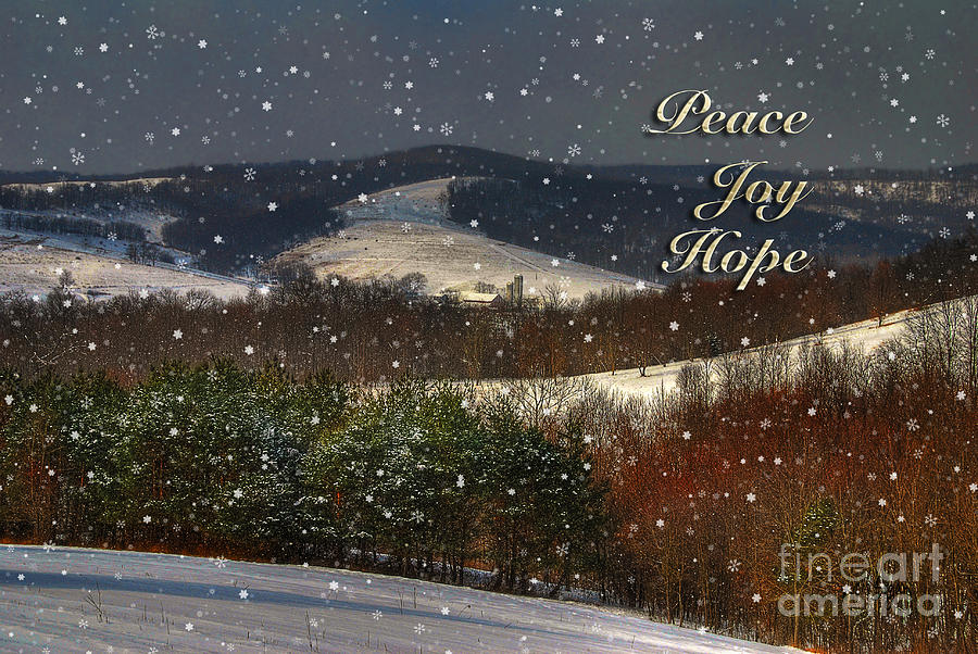 Christmas Photograph - Soft Sifting Christmas Card by Lois Bryan