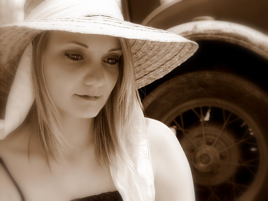 Sepia Photograph - Soft Thoughts by James Granberry