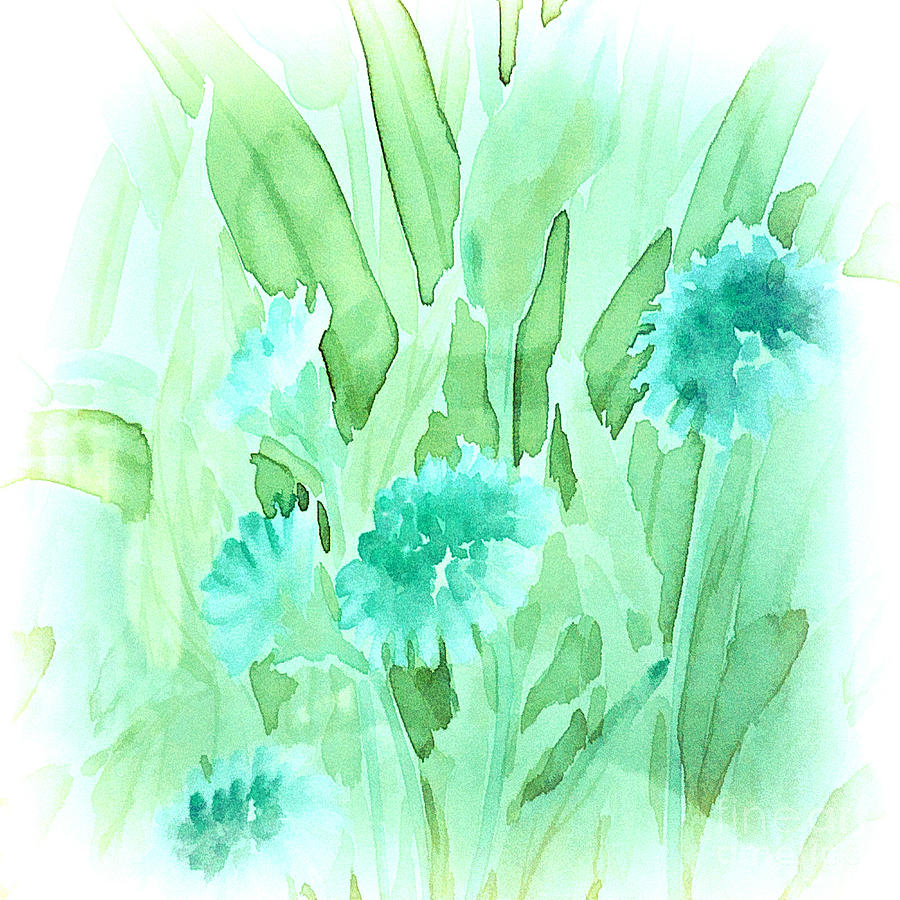 Soft Watercolor Floral Painting By Judy Palkimas