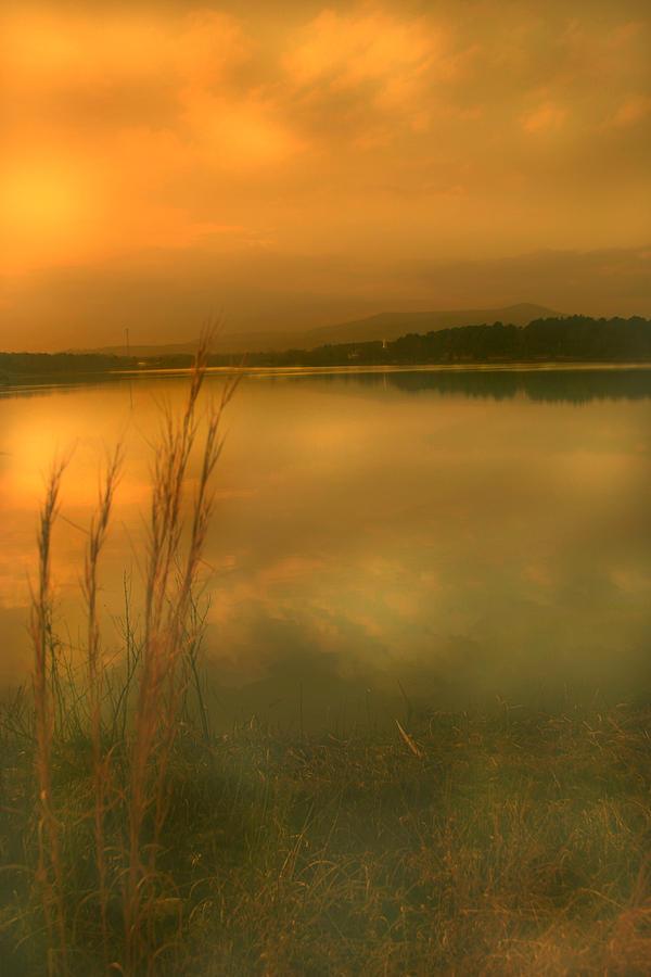 Lake Photograph - Softly by Nina Fosdick