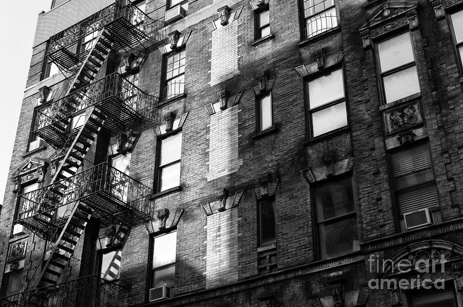 Building Photograph - Soho Shadows by John Rizzuto