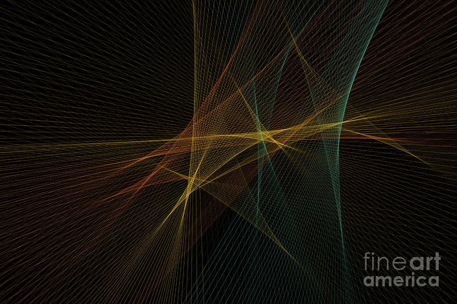 Abstract Digital Art - Soil Computer Graphic Line Pattern by Frank Ramspott