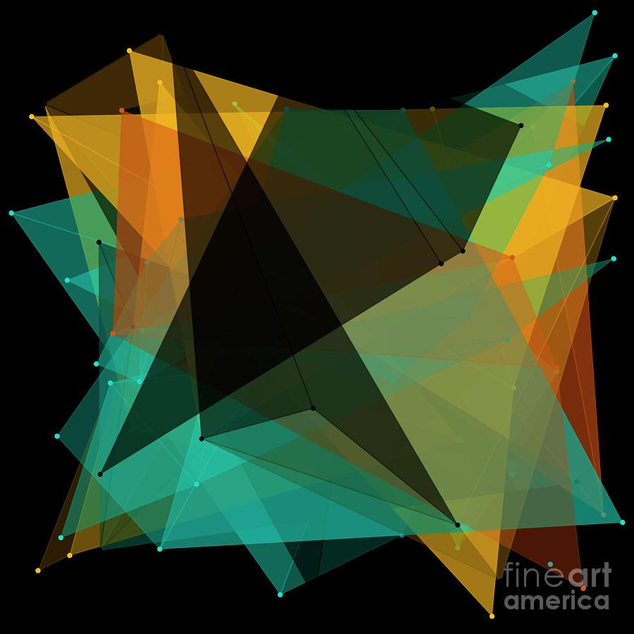 Abstract Digital Art - Soil Polygon Pattern by Frank Ramspott