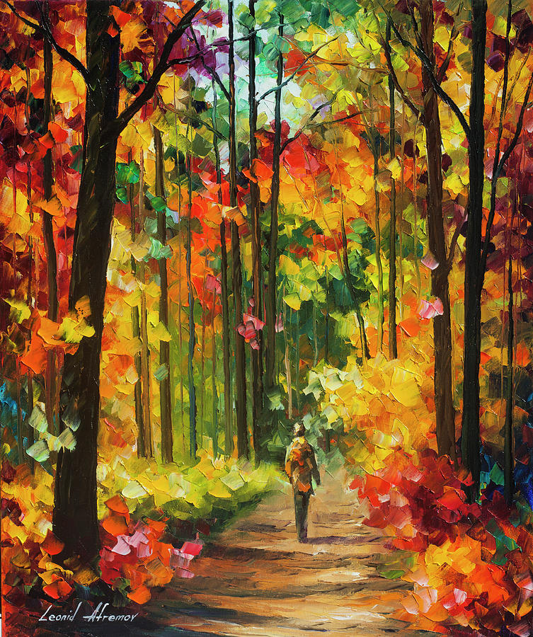 Painting Painting - Soild Fall  by Leonid Afremov