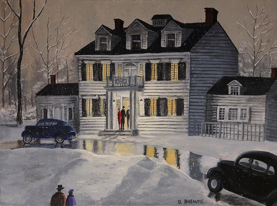 Winter Painting - Soiree At Billings Estate by Dave Rheaume