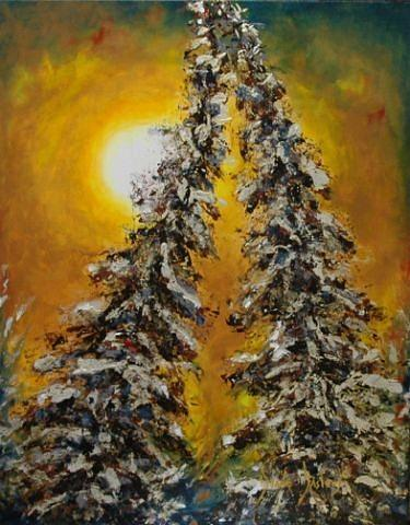 Trees Painting - Soiree Intime by Dyane Dastous