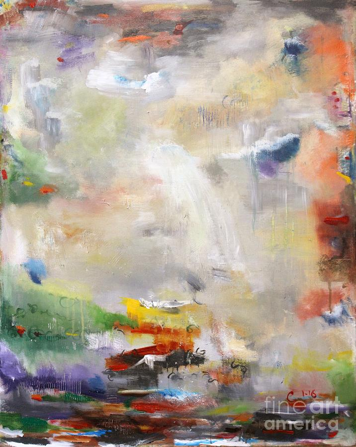 Abstract Painting - Sojourn by Chaline Ouellet