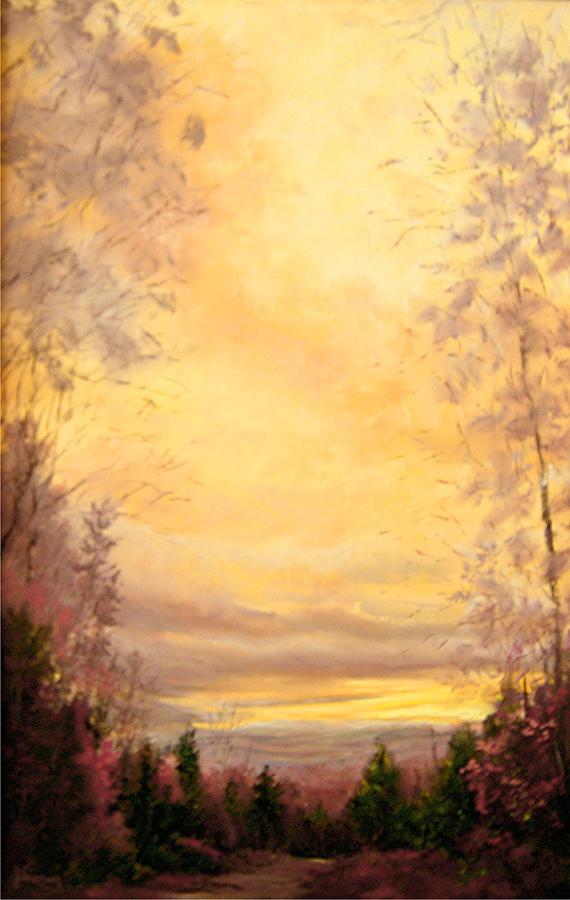 Sienna Painting - Sojourn by JoAnne Lussier