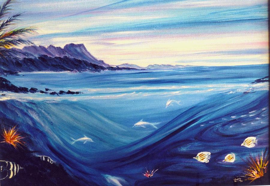 Islands Painting - Sokehs Dawn by Dina Holland
