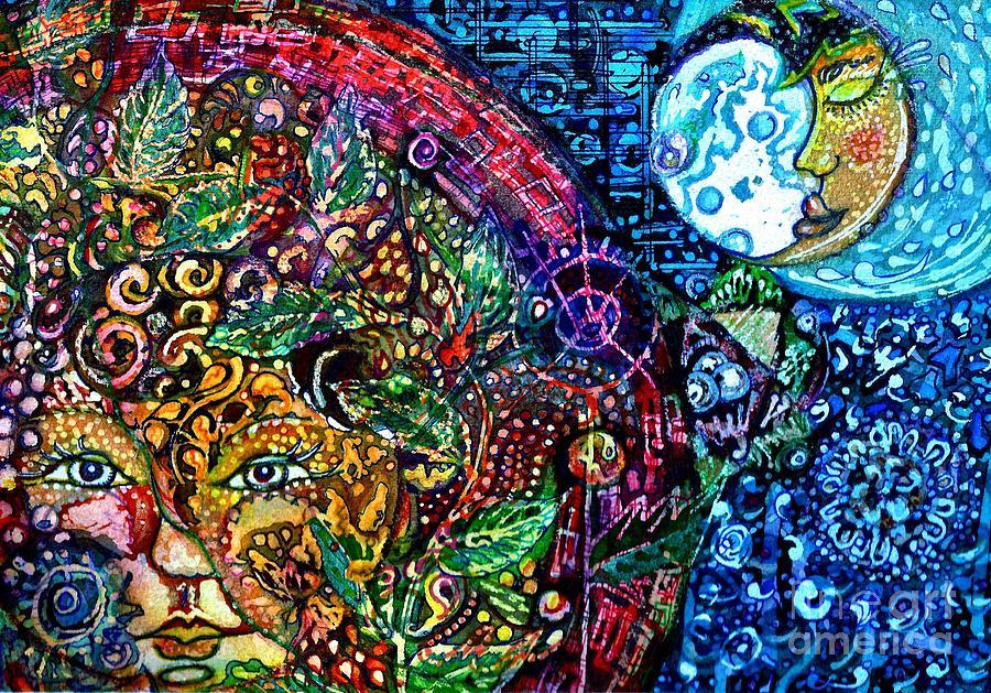 Solar Baby, Sleepy Moon Painting