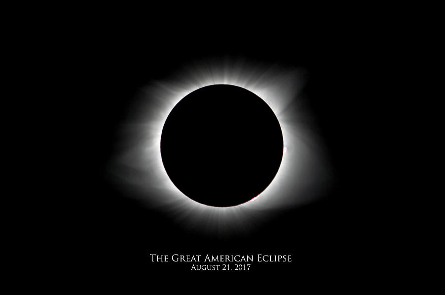 Solar Eclipse Ring of Fire with Text by Lori Coleman
