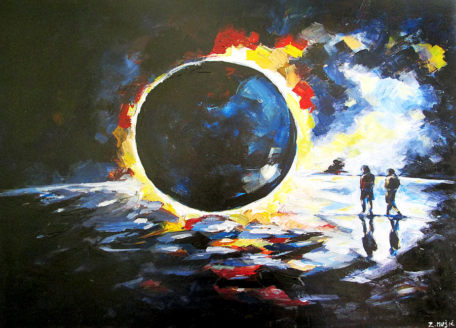 Solar Eclipse Acrylic Painting