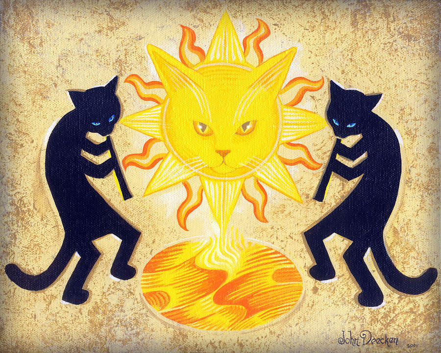 Solar Feline Entity by John Deecken