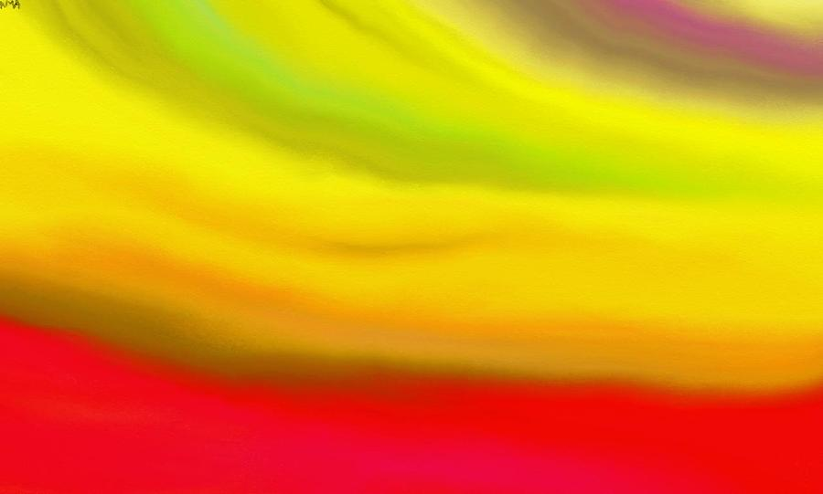 Abstract Painting - Solar Flare by Angie Armstrong