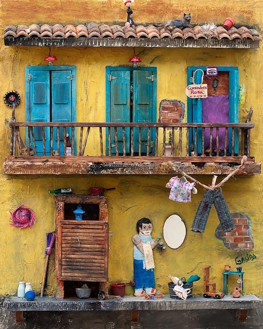 Casa Painting - Solar by Marlene Gasiba