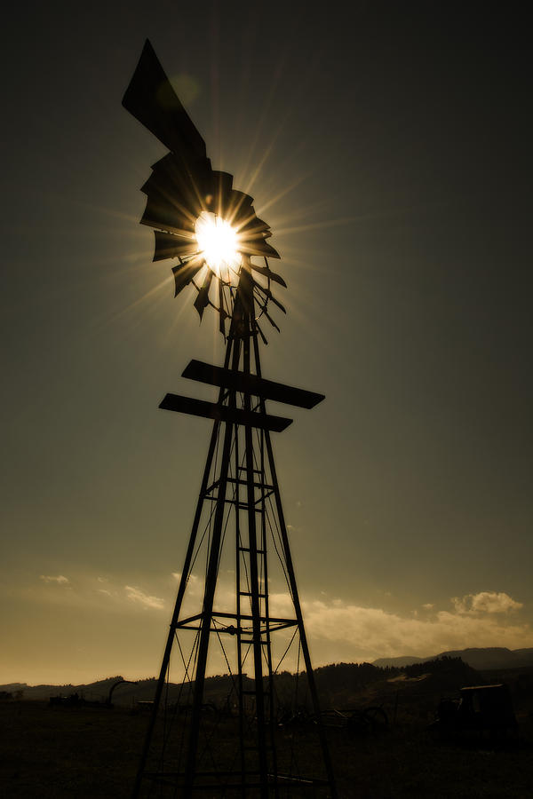 Windmill Photograph - Solar Meets Wind by Barry C Donovan