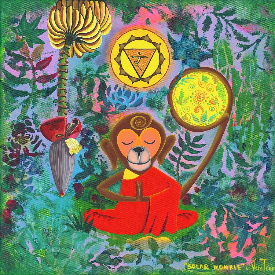 Monkey Painting - Solar Monkie by Vera Tour