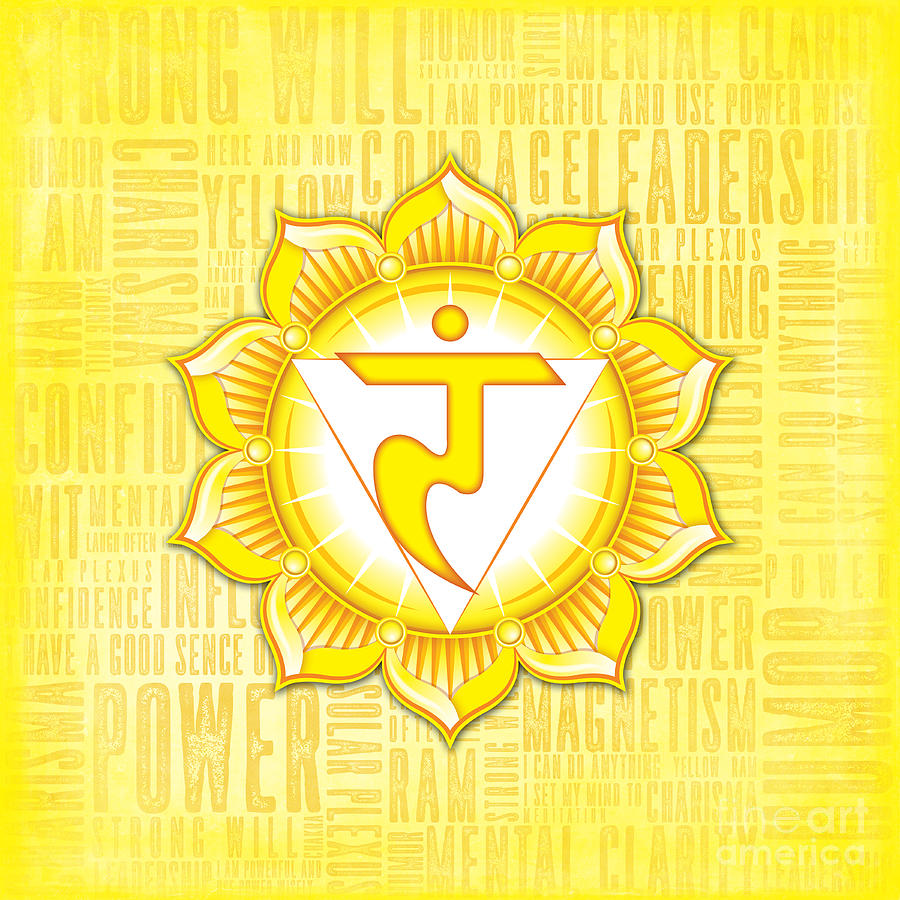 Solar Digital Art - Solar Plexus Chakra - Awareness by David Weingaertner