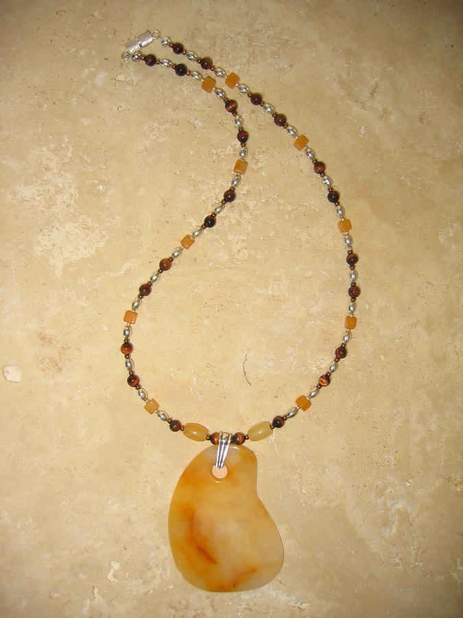 Yellow Jewelry - Solar Plexus Necklace by Treasure-Tob E