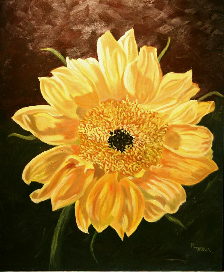 Sunflower Painting - Solar Power by Robert Tower