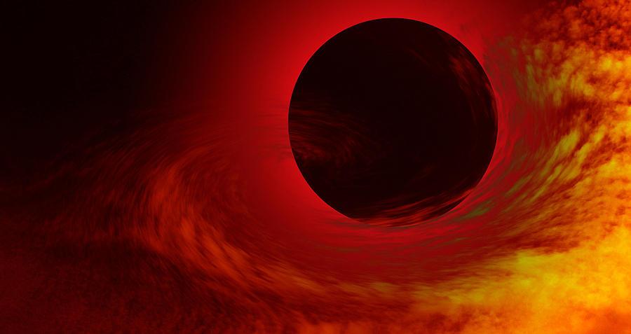 Sun Digital Art - Solar Tide by Juana Maria Garcia-Domenech