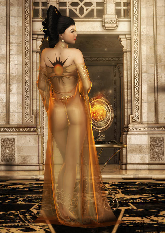 Sun Goddess Digital Art - Solaria by Rachel Dudley