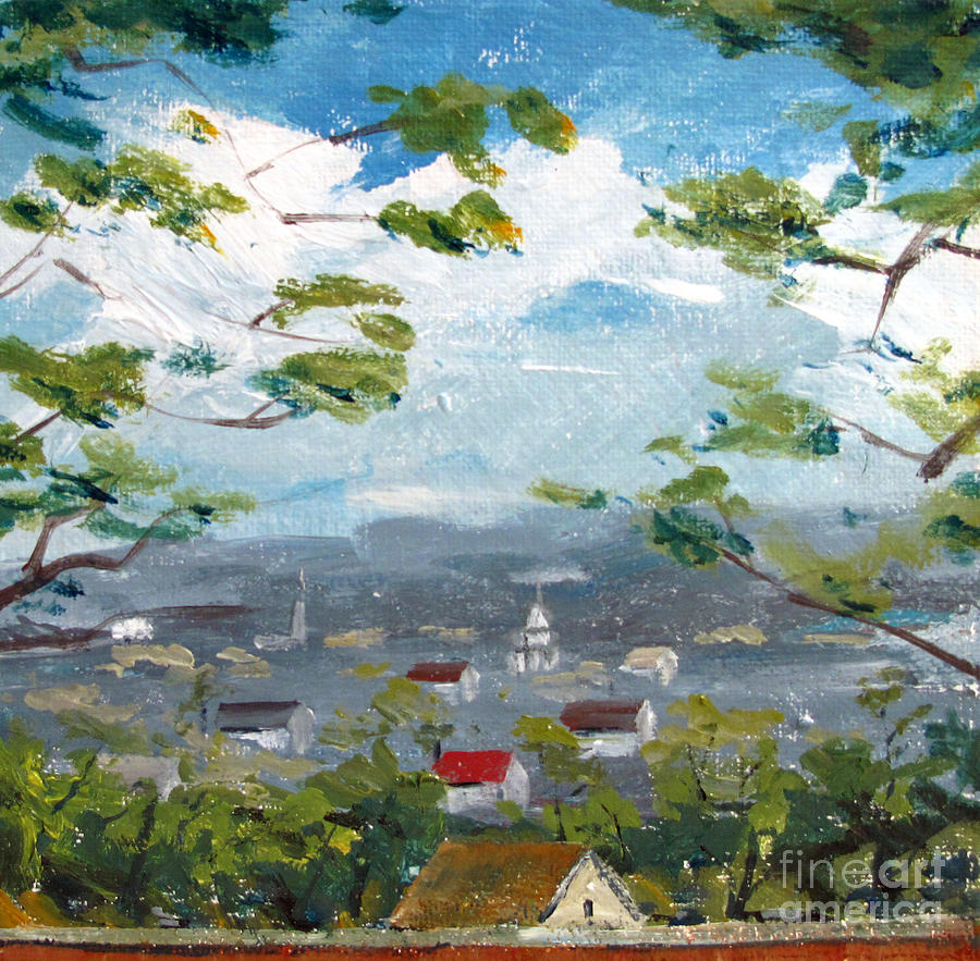 Cole Porter Painting - Sold Cole Porters Home Peru Indiana South Bank Of The Wabash River Valley by Charlie Spear