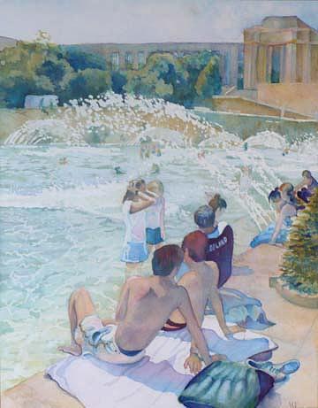 Paris Painting - Sold Hot Paris Day by Violet Taylor
