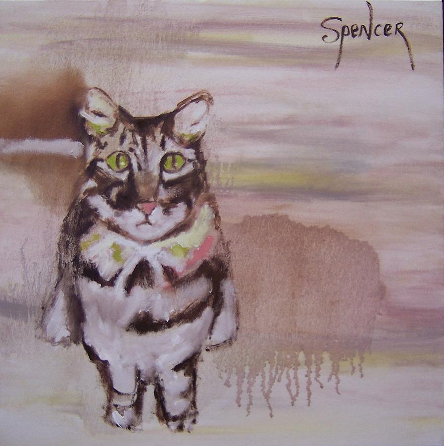 Feline Painting - Sold-standing Cat by Scott Spencer