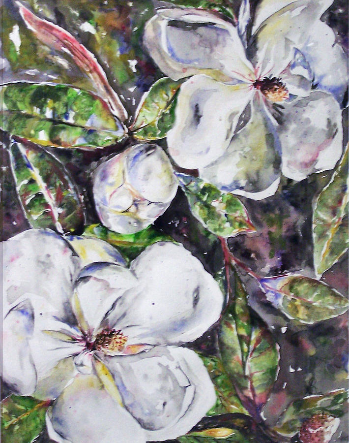 Magnolia Painting - Sold Steal Magnolias by Amanda  Sanford
