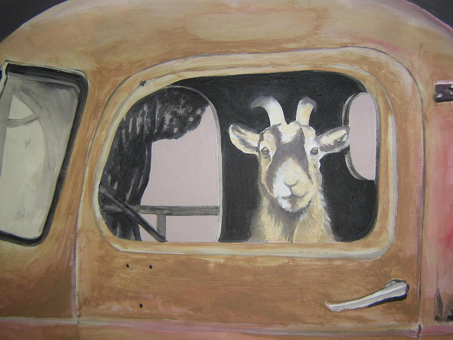 Sold-the Goats Truck Painting by Charlie Mumah