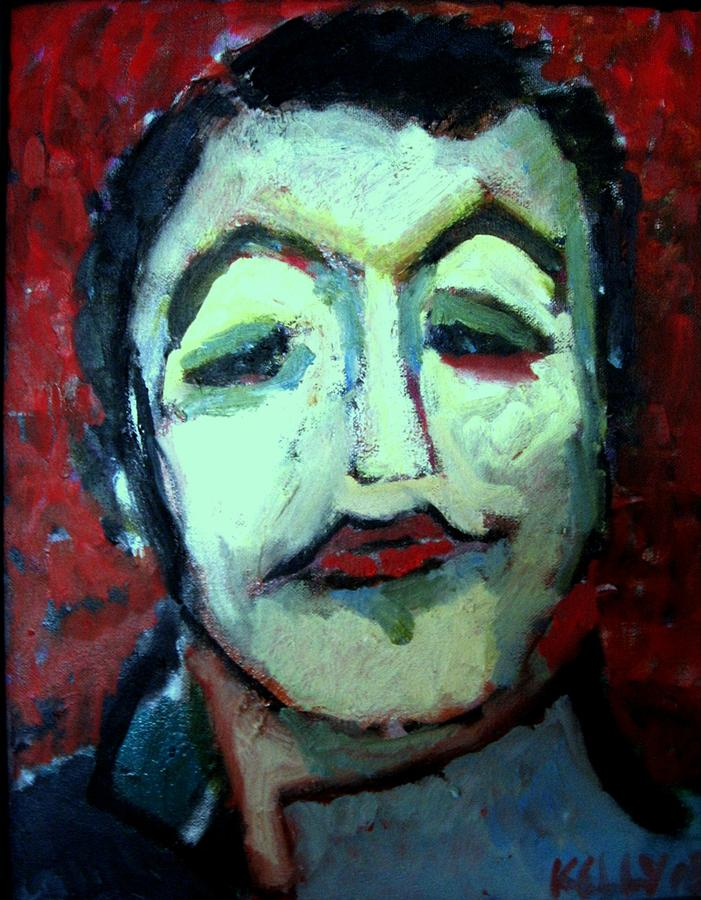 Self Portrait Painting - Soldier Boy by Charles Kelly