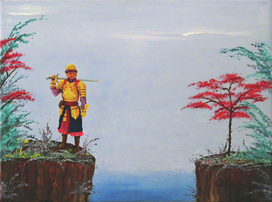 Soldier Painting - Soldier By Gorge by Robert Marquiss
