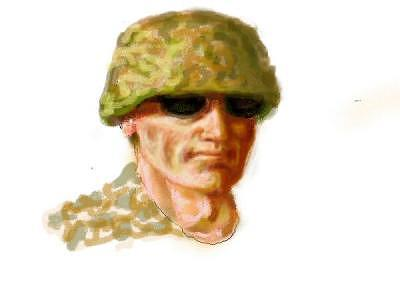 Soldier Digital Art - Soldier by Gerald Wolfert