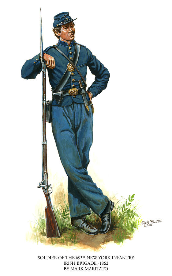 Soldier Of The 69th New York Infantry - Irish Brigade Painting