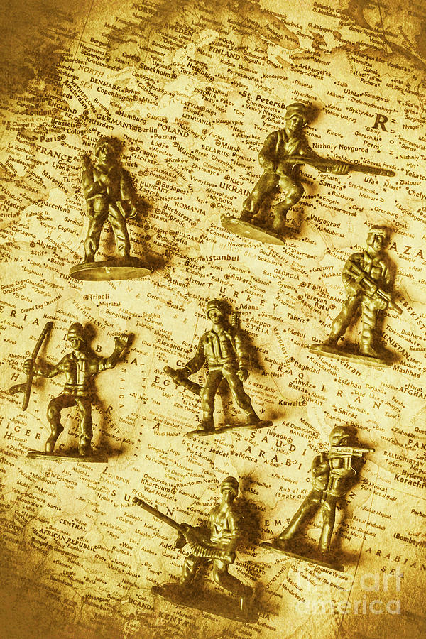 Toy Photograph - Soldiers And Battle Maps by Jorgo Photography - Wall Art Gallery