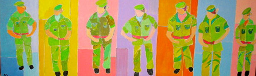 Soldiers On Parade Painting by Martin Silverstein