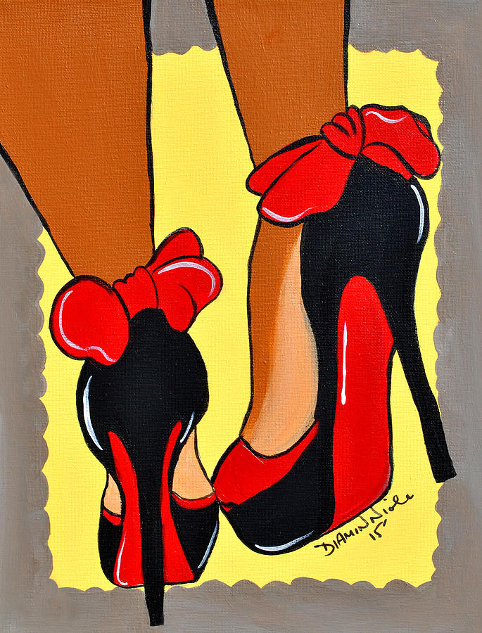 Shoes Painting - Sole Mate by Diamin Nicole