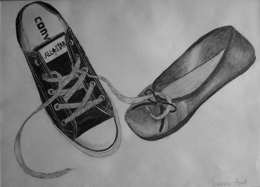 Shoes Drawing - Sole Mates by Joanna Aud