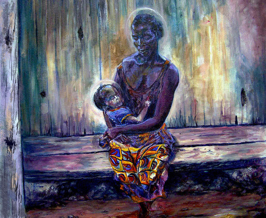 Solemn Momemts Painting by Tommy  Winn