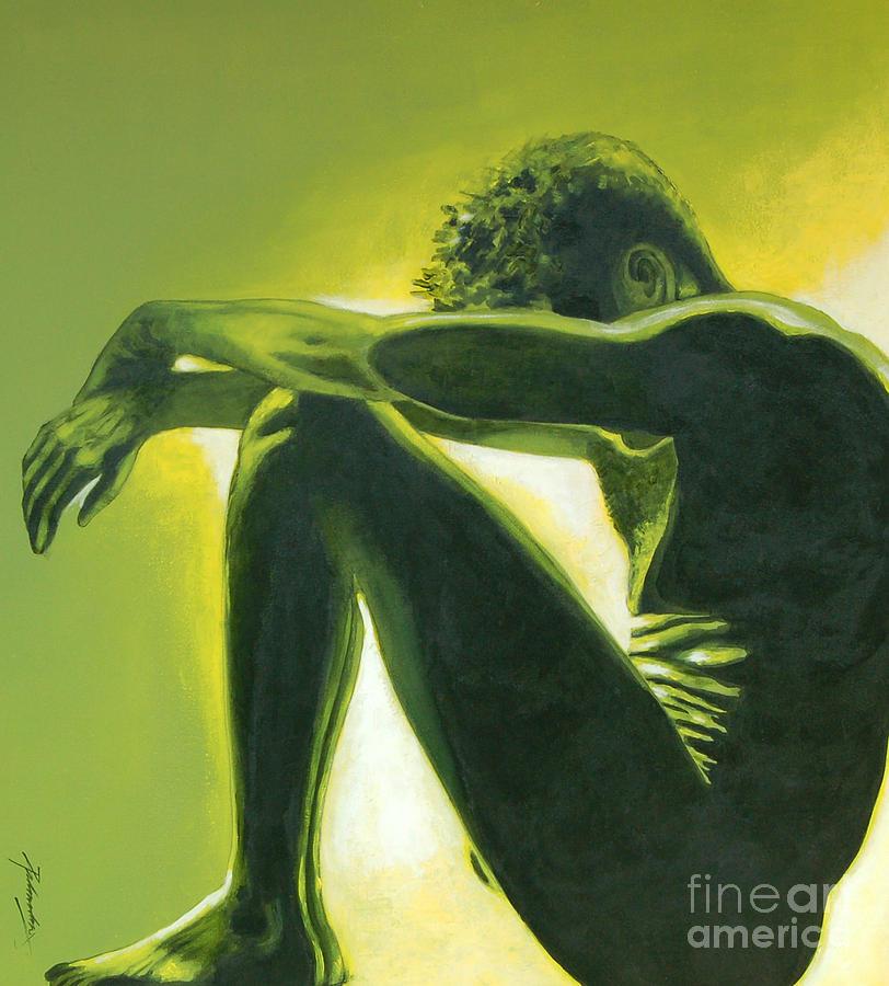 Figurative Painting - Soliloquy by Padmakar Kappagantula