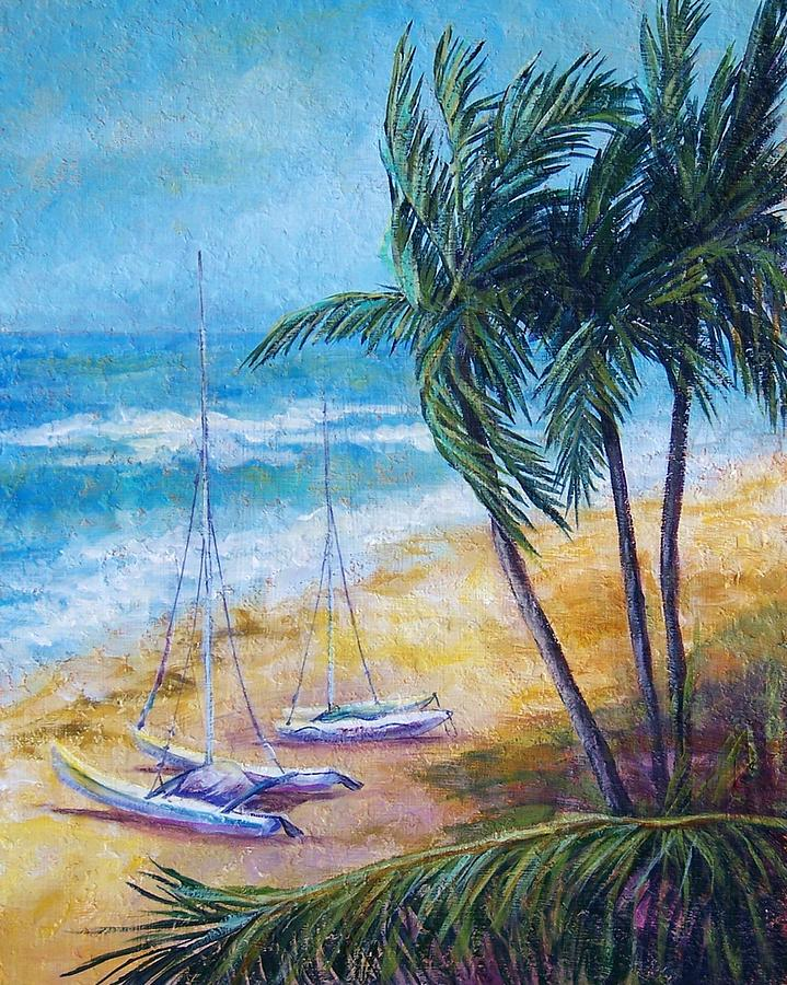 Seascape Painting - Soliman Bay by Candy Mayer