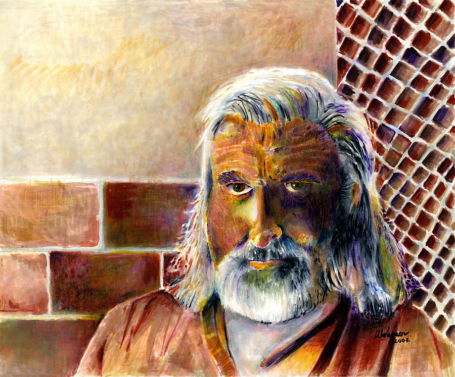 Man Painting - Solitary by Arline Wagner
