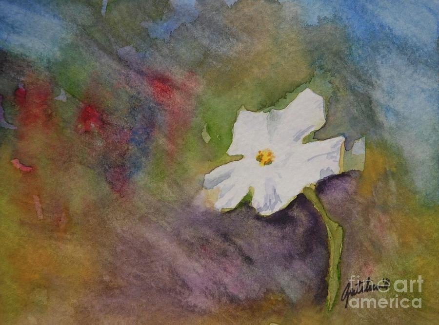 Flower Painting - Solitary Flower by Gretchen Bjornson