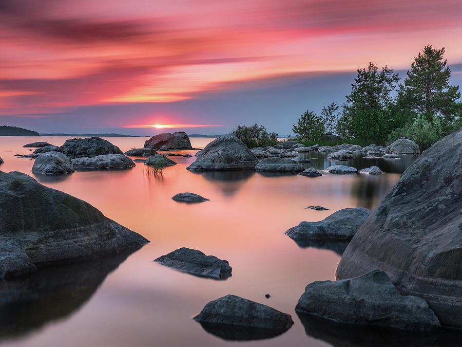Landscape Photograph - Solitary Island by Teemu Kustila