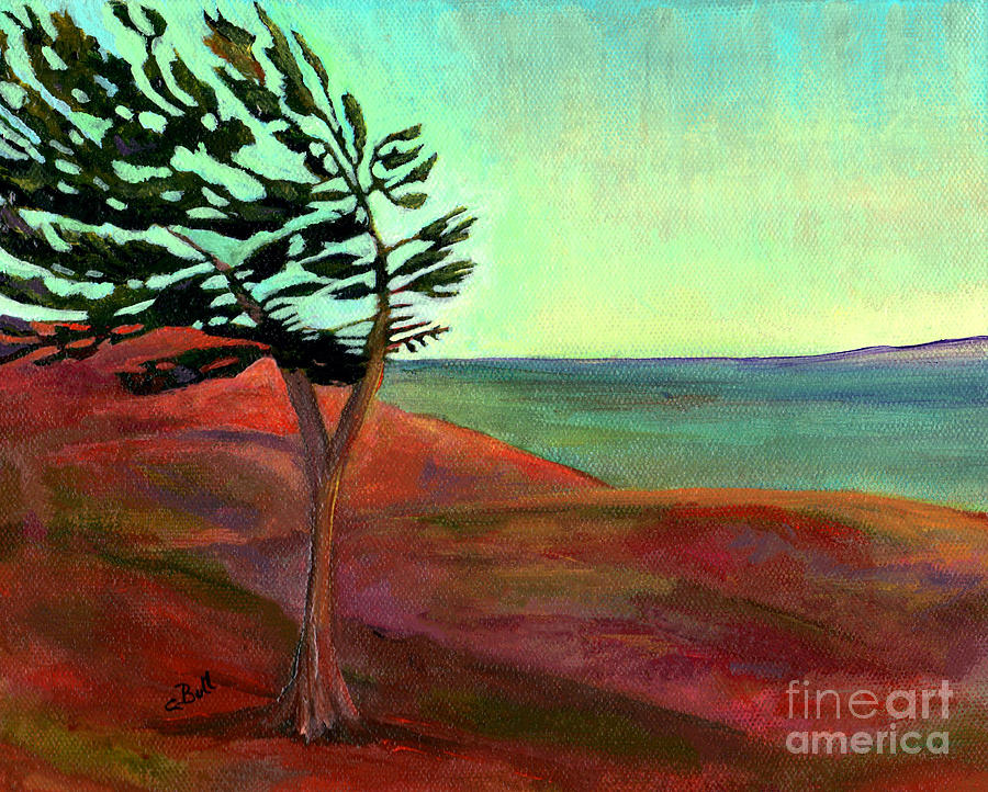Tree Painting - Solitary Pine by Claire Bull