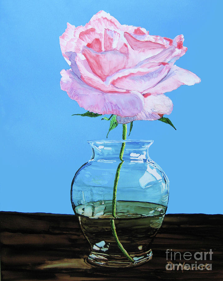 Rose Painting - Solitary Rose by Diane Marcotte