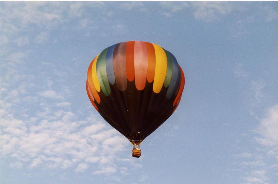 Hot Air Balloon Photograph - Solitary Run by William Thomas