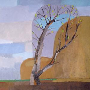 Golden Painting - Solitary Tree by Evgeny  Novoselov