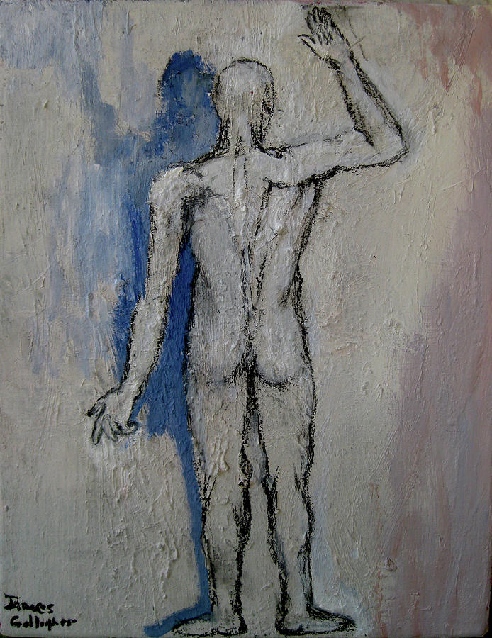 Figure Painting - Solitude And Existence by James Gallagher
